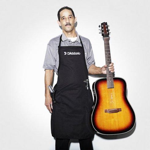 D'Addario Logo Black Guitar Luthier Apron