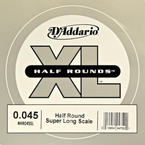 D'Addario NHR045SL Nickel Half Round XL Bass Single String .045 Super Long Scale