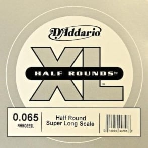 D'Addario NHR065SL Nickel Half Round XL Bass Single String .065 Super Long Scale