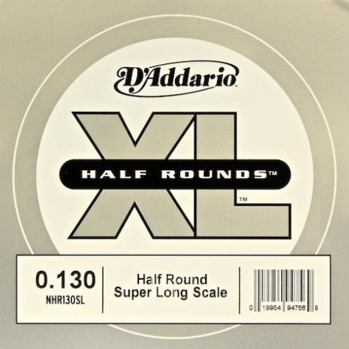 D'Addario NHR130SL Nickel Half Round XL Bass Single String .130 Super Long Scale