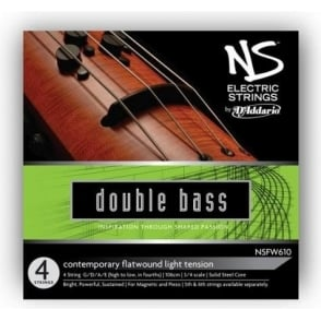 D'Addario NS Electric Double Bass Strings - Contemporary Style Full Set - 3/4 Scale Medium Tension