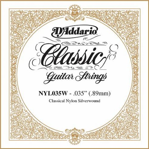 D'Addario NYL035W Silverplated Wound on Nylon Single String .035