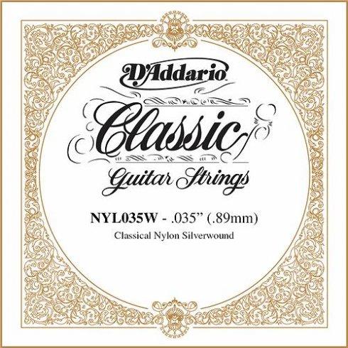 D'Addario NYL035W Silverplated Wound on Nylon Single String .035