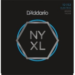 D'Addario NYXL1252w Nickel Wound Electric Guitar Strings 12-52 Jazz Light w/ Wound 3rd