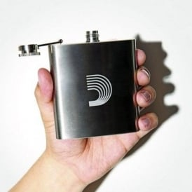 D'Addario Official Logo Stainless Steel 6fl oz Hip Flask