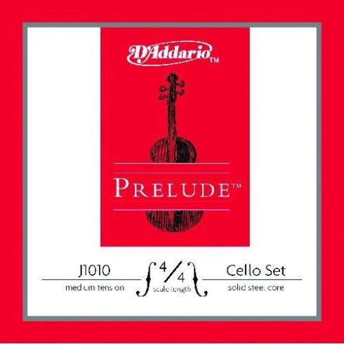 D'Addario Prelude Cello Set 4/4 Medium Tension Full Set Strings