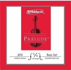 D'Addario Prelude Double Bass 3/4 Scale / Medium Tension