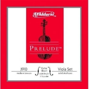 D'Addario Prelude Viola Medium Tension Extra Short Scale