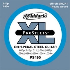 D'Addario PS490 XL ProSteels E9th Pedal Steel Strings