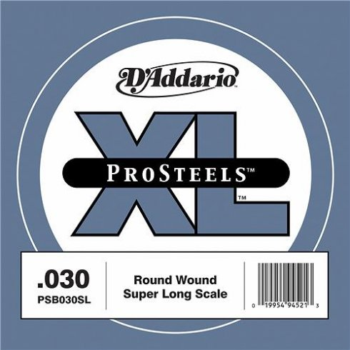 D'Addario PSB030SL ProSteels XL Bass Guitar Single String .030 Super Long Scale