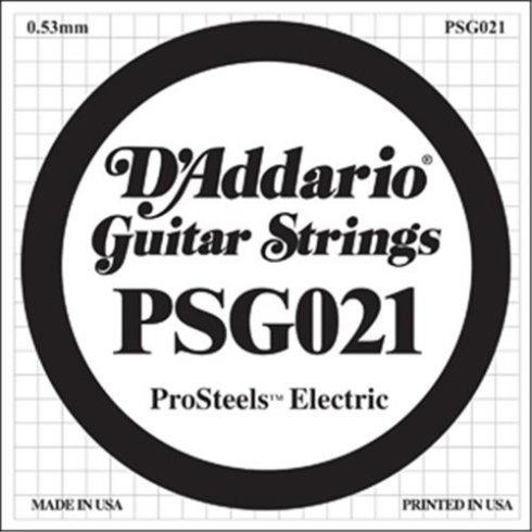 D'Addario PSG021 Stainless Steel Wound Single String .021