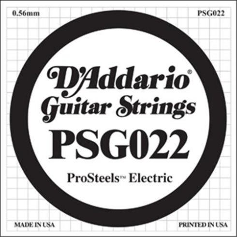 D'Addario PSG022 Stainless Steel Wound Single Guitar String .022