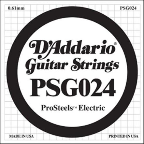 D'Addario PSG024 Stainless Steel Wound Single String .024