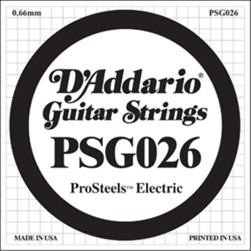 D'Addario PSG026 Stainless Steel Wound Single String .026