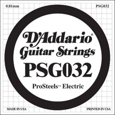 D'Addario PSG032 Stainless Steel Wound Single String .032