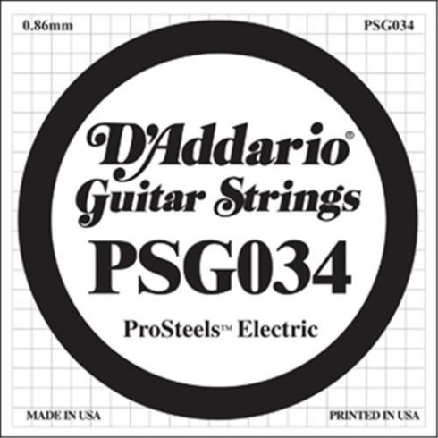 D'Addario PSG034 Stainless Steel Wound Single String .034