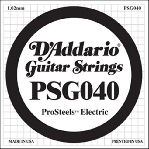 D'Addario PSG040 Stainless Steel Wound Single String .040