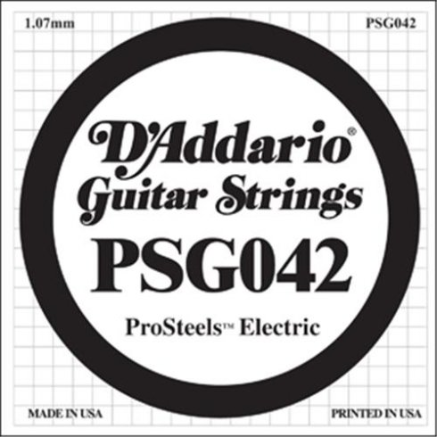 D'Addario PSG042 Stainless Steel Wound Single String .042