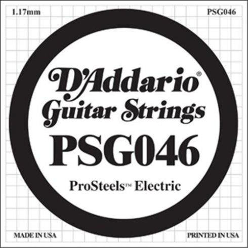 D'Addario PSG046 Stainless Steel Wound Single String .046