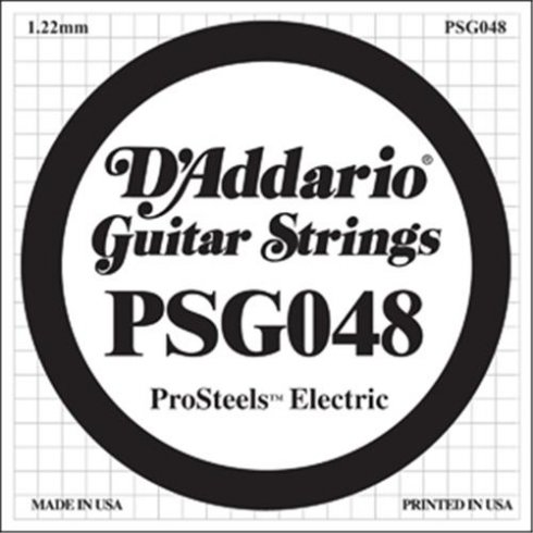 D'Addario PSG048 Stainless Steel Wound Single String .048