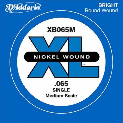D'Addario XB065M Nickel Wound XL Bass Single String .065 Medium Scale