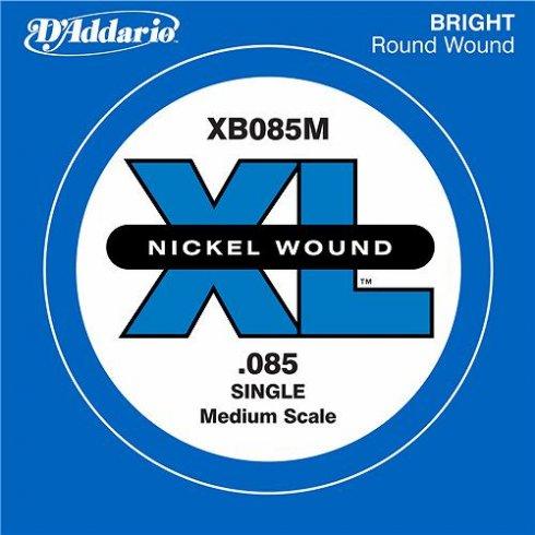 D'Addario XB085M Nickel Wound XL Bass Single String .085 Medium Scale