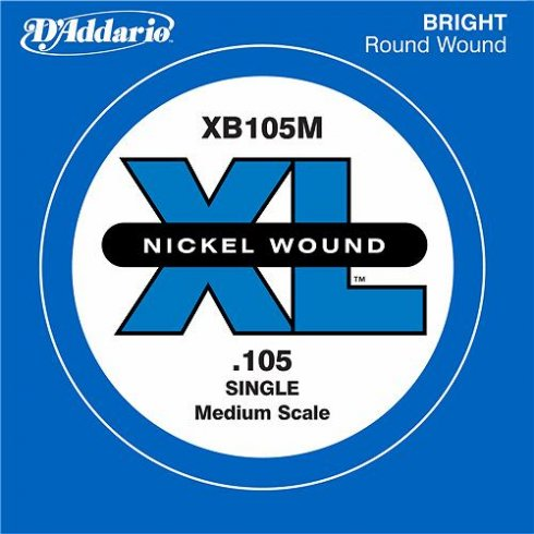 D'Addario XB105M Nickel Wound XL Bass Single String .105 Medium Scale