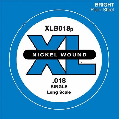 D'Addario XLB018 Plain Steel XL Bass Guitar Single String .018 Long Scale