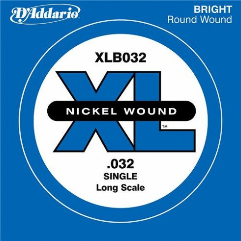 D'Addario XLB032 Nickel Wound XL Bass Single String .032 Long Scale