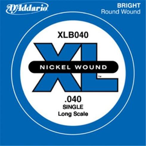 D'Addario XLB040 Nickel Wound XL Bass Single String .040 Long Scale