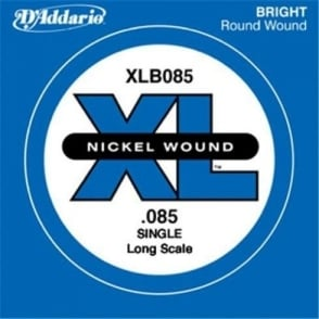 D'Addario XLB085 Nickel Wound XL Bass Single String .085 Long Scale
