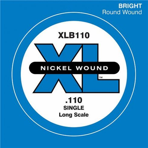 D'Addario XLB110 Nickel Wound XL Bass Single String .110 Long Scale