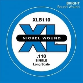 D'Addario XLB110 Nickel Wound XL Bass Single String .110 Long Scale