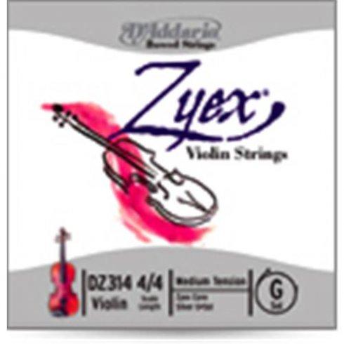 D'Addario DZ310 4/4M Zyex Violin String Set, 4/4 Scale, Medium Tension