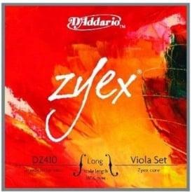 D'Addario DZ410 Zyex Viola Long Scale, Medium Tension