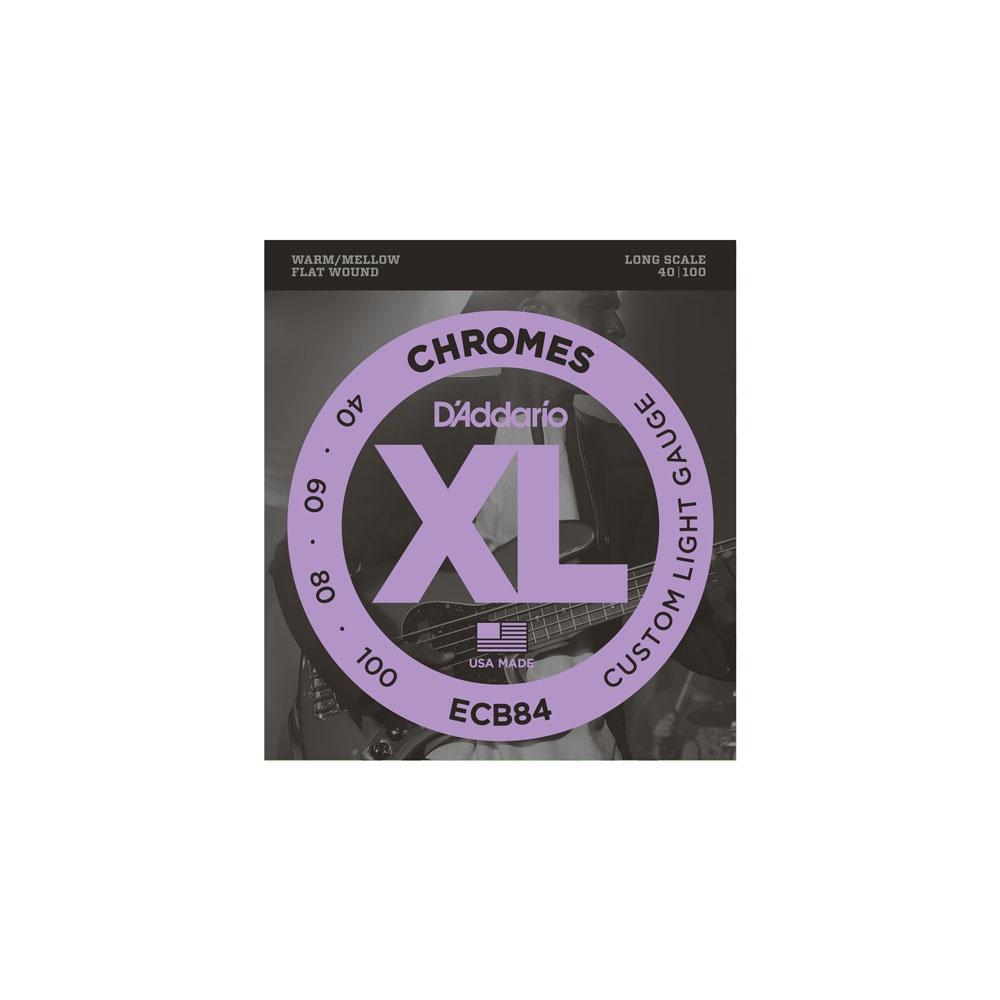 D/'Addario CB080 Single Bass Chromes Flat Wound 080 Long Scale String