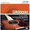 D'Addario EFT13 Flat Tops 16-56 Resophonic Acoustic Guitar Strings