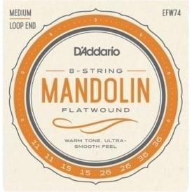 D'Addario EFW74 Flatwound Mandolin 11-36 Medium Gauge Strings