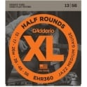 D'Addario EHR360 Half Rounds Stainless Steel Electric Guitar Strings 13-56 Jazz Medium