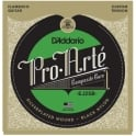 D'Addario EJ25B Flamenco Silverplated Wound Black Nylon Guitar Strings