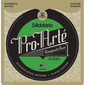 D'Addario EJ25C Flamenco Silverplated Wound Clear Nylon Guitar Strings