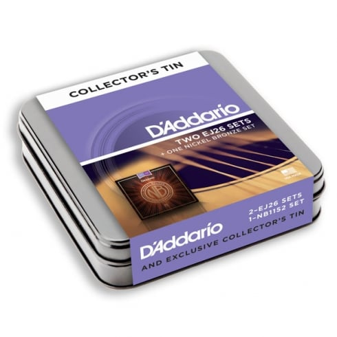 D'Addario EJ26 & Nickel Bronze Upgrade 3-Pack Tin - Custom Light 11-52
