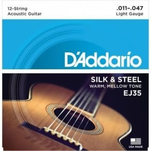 D'Addario EJ35 Silk & Steel Acoustic Guitar Strings 11-47 12-String