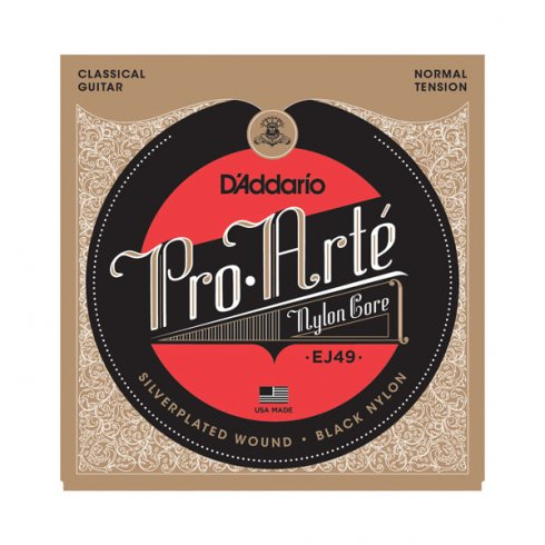 D'Addario EJ49 Pro Arte Classical Black Nylon Normal Tension Guitar Strings