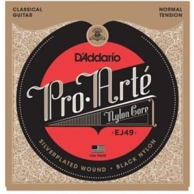D'Addario EJ49 Pro Arte Classical Black Nylon Normal Tension Guitar Strings