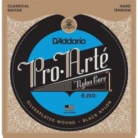 D'Addario EJ50 Pro Arte Classical Guitar Strings - Black Nylon Hard Tension