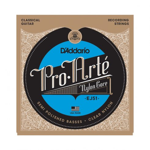 D'Addario EJ51 Pro Arte Classical Polished Basses Hard Tension Guitar Strings