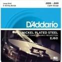 D'Addario EJ60 5-String Banjo, Nickel Wound, Loop End, 09-20 Light