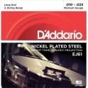 D'Addario EJ61 5-String Banjo Nickel Wound Loop End Strings - 10-23 Medium