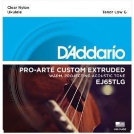 D'Addario EJ65TLG Pro-Arté Custom Extruded Ukulele Tenor Low G Tuning Strings